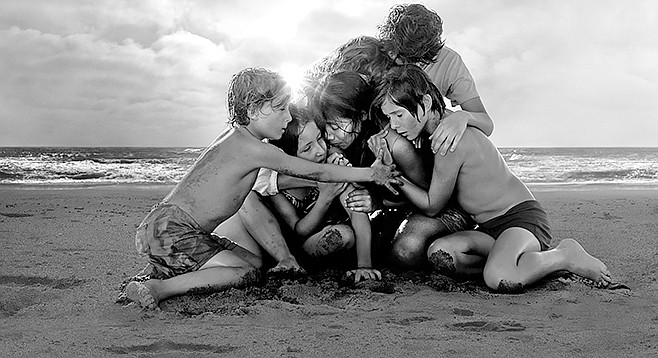 Roma: Signature pose from Alfonso Cuarón's Oscar-bound trip down memory lane.