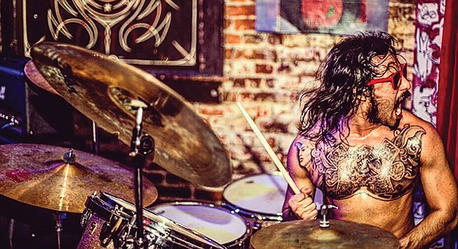 "Daniel ""Mucho"" Velasco: keeping the drum solo alive."