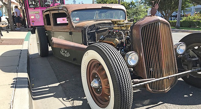 The Beast? No, Rosie, Eddie's beloved rat rod.
