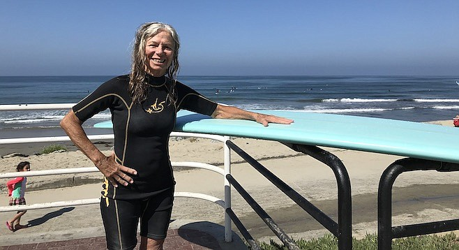 "Inge Morton: ""I've been surfing here for 25 years, but I started in the 60's in Brazil."""