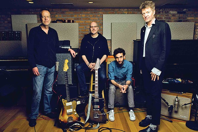 "Nels Cline, far right, says his time playing in Wilco doubles his audience at shows with his new outfit The Nels Cline 4, ""and I'm grateful for this."""