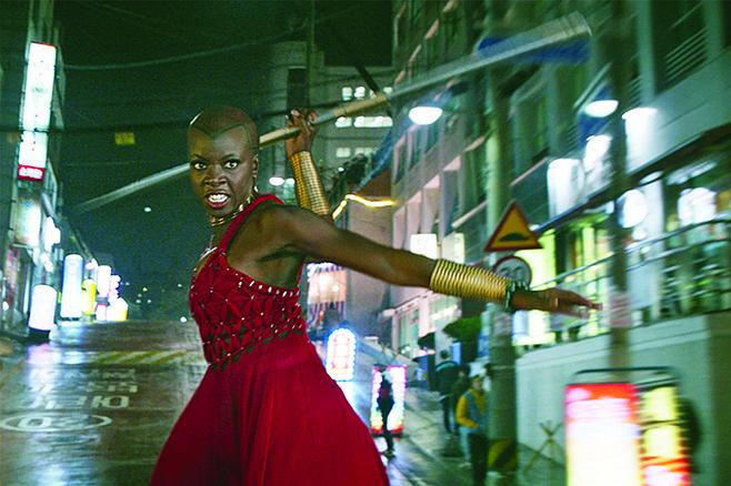 Playwright Danai Gurira as General Okoye in Black Panther