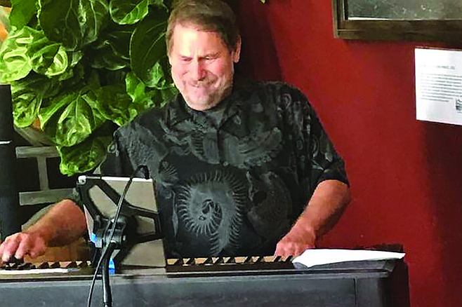 Douglas Kvandal says being a Hammond B-3 organ player means hauling 800 pounds of equipment and an hour of set up.