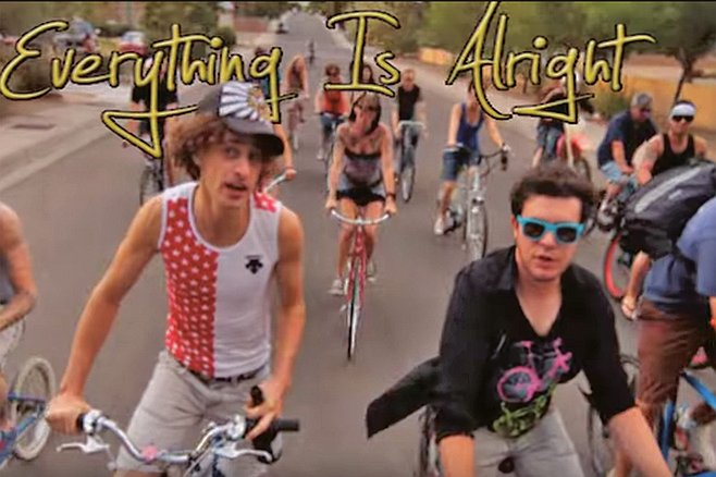 "Monster Paws ""Champagne Bike Ride"" video"