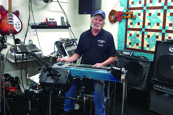 Steel Guitars of North County owner Jim Palenscar.