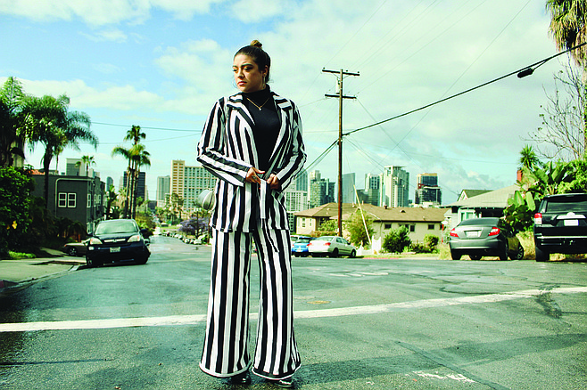 Striped chic in Banker's Hill