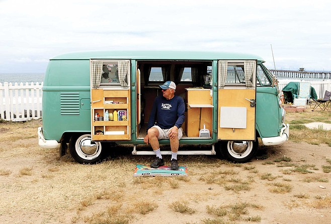 This month, Tom Summers is driving his 1974 VW Bus 3000 miles to Lake Chapala south of Guadalajara for a VW Bus gathering — and back. In August, he's trekking 2700 miles to Woodstock.