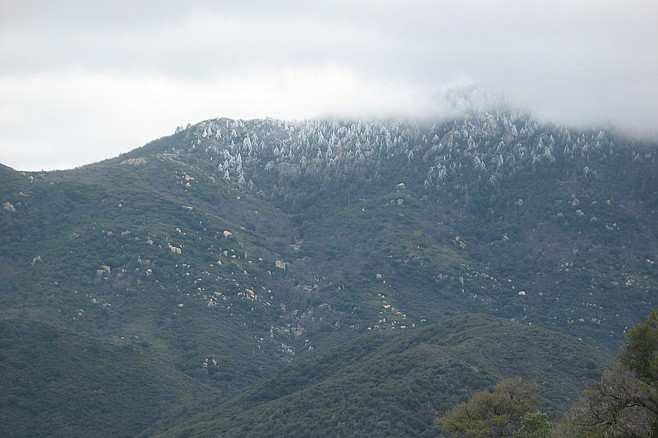 Hot Springs Mountain looms over the landscape