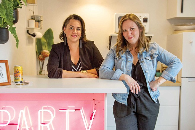 Nic Roc and Stacy Keck run You Belong Here, a 1250 square-foot coworking space on El Cajon Boulevard.