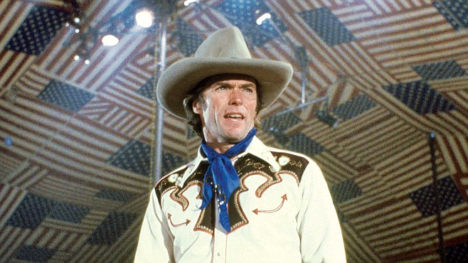Fireworks start the moment Bronco Billy (Clint Eastwood) takes center stage.