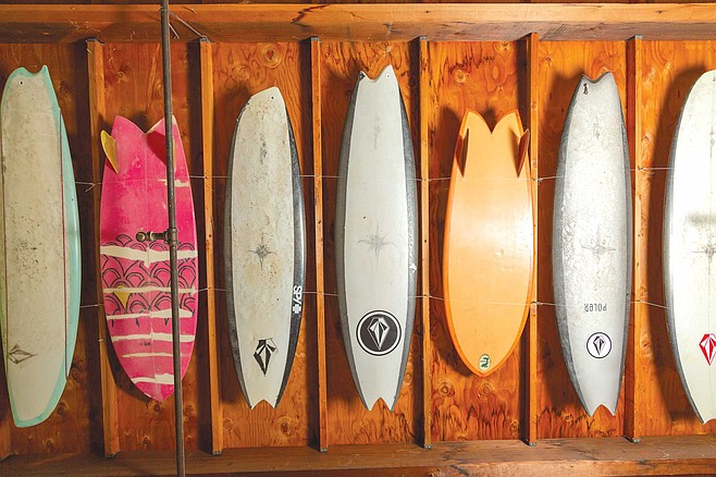 Ryan Burch's surfboard experiments often take old-school designs to the extreme.