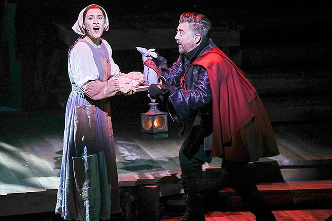 Rats! Betsy Morgan as Miggery Sow and Eric Petersen as Roscuro in The Tale of Despereaux