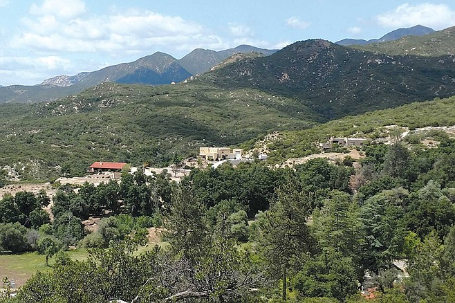 Looking out over Los Tules, a community of a few hundred homes above Warner Springs Ranch