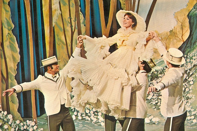 Darling Lili: It's a jolly holiday for Julie Andrews.