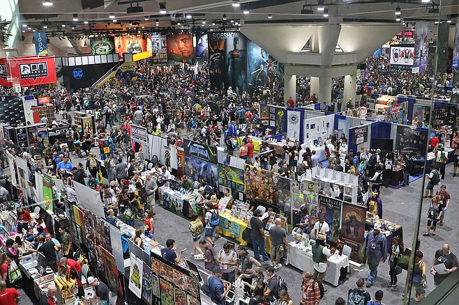Many Comic-Con attendees couldn't find DC Comics, which had abandoned its usual spot front and center. DC's booth had been folded into the Warner Bros. area on a different floor.