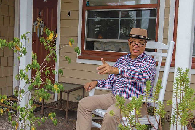 """""""In May,"""" Frank Arredondo thinks is when he saw the most coyotes, sniffing around just outside his grape vine-covered yard fence. """"And in June. And I've seen them since. My brother has too. In the morning, and in the day time. You can tell that they're definitely wild animals."""""""