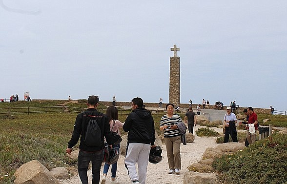 Portugal's Cabo de Roca, westernmost point of Continental Europe. The wines of Colares are just up the road.