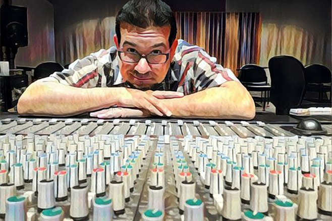 A wistful smile from co-owner Frank W. Torres at the now-closed Iacon Sound recording studio.
