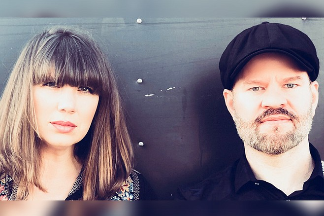 """""""We do live looping by creating and layering parts on the spot,"""" says Amy Day of the folksy duo Spiritual Motels."""