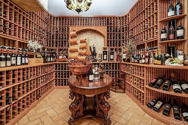 The above-ground wine cellar (wine not included).