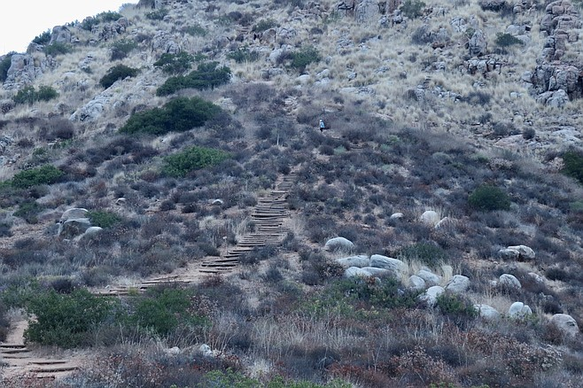 The trail up South Fortuna is sometimes called the Stairway to Heavem