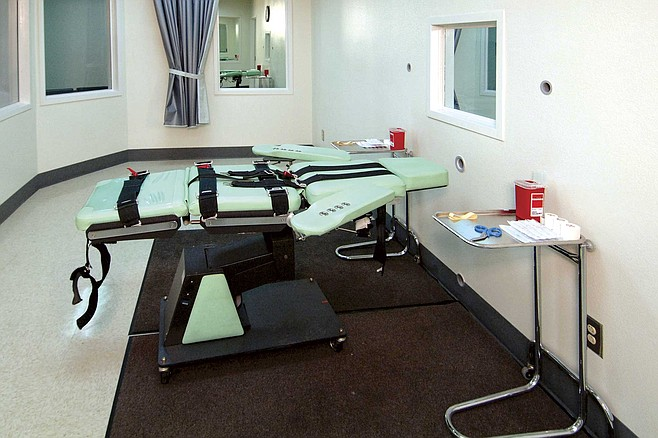 The lethal injection room at San Quentin State Prison, completed in 2010.