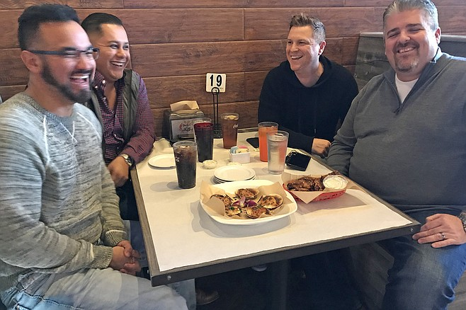 Da boys (from left) Daniel, Mike, Kelly, Ben