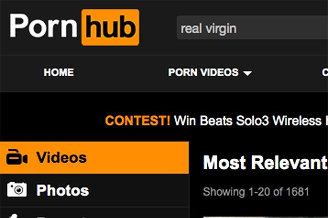 "Pornhub: ""Not just virgin - REAL virgin. Our integrity demands their integrity."""