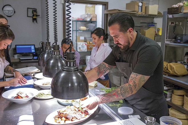 """""""I can trace every single item of seafood on the menu back to its origin,"""" says chef JoJo Ruiz. """"Every single thing."""""""