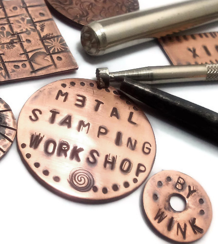 Metal stamping workshop tuesday december 18 2012 7 p for Jewelry making classes san diego