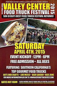 Valley Center Spring Food Truck Festival Saturday April