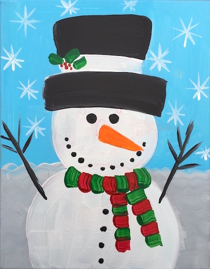 Image result for snowman painting kids