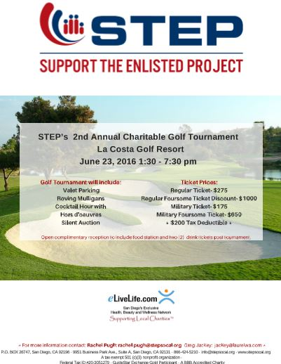 Support the Enlisted Project: 2nd Annual Golf Fundraiser ...