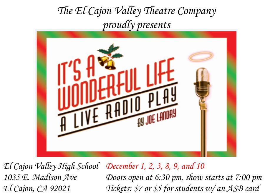 It 39 S A Wonderful Life A Live Radio Play Saturday December 3 2016 7 P M San Diego Reader