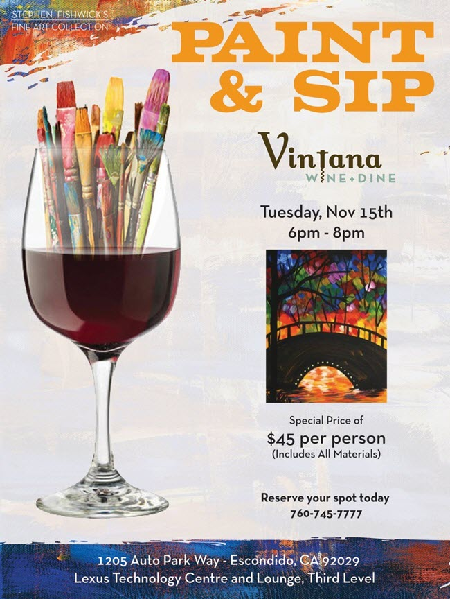 paint sip series tuesday november 15 2016 6 p m