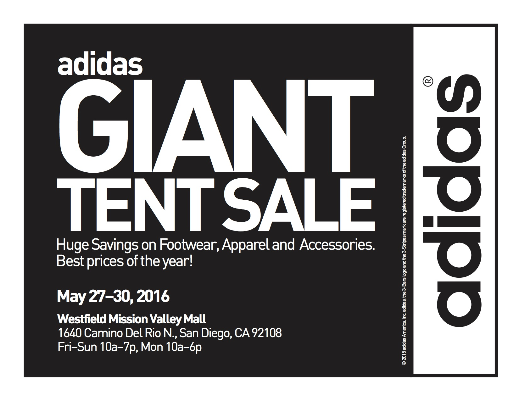 adidas tent sale mission valley 2017