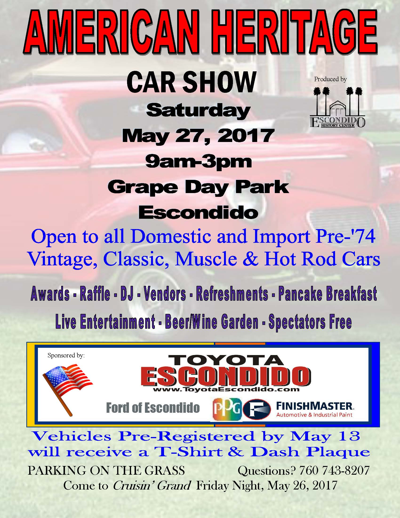 American Heritage Car Show Saturday May Am To - American heritage car show