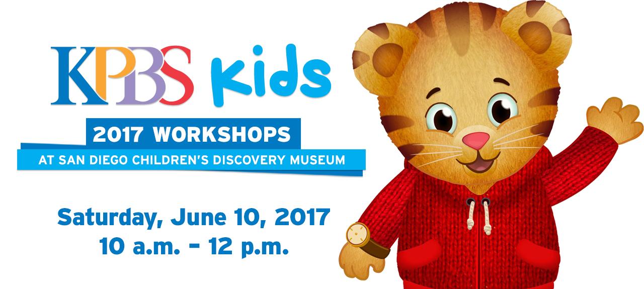 KPBS Workshop: Daniel Tiger   Saturday, June 10, 2017, 10 A.m. To Noon |  San Diego Reader