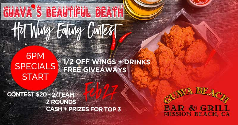 hot wing eating contest monday february 27 2017 6 p m