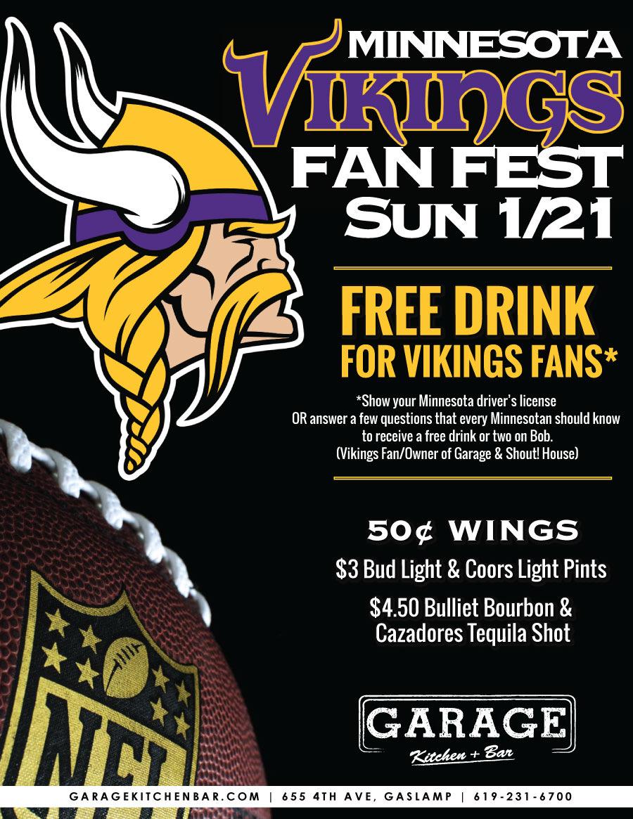 Minnesota Vikings Fan Day Sunday January 21 2018 1 P M To 8