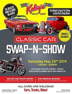 Kobeys Classic Car SwapNShow Saturday May Am To - San diego classic car show 2018