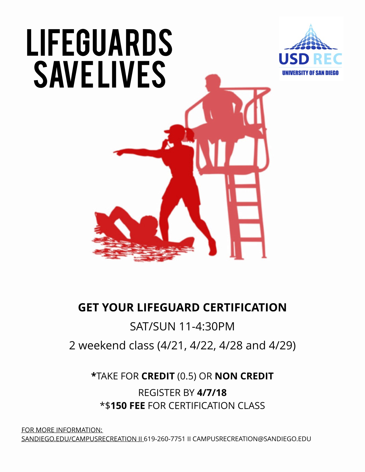 Lifeguard Certification Course Saturday April 21 2018 11 Am