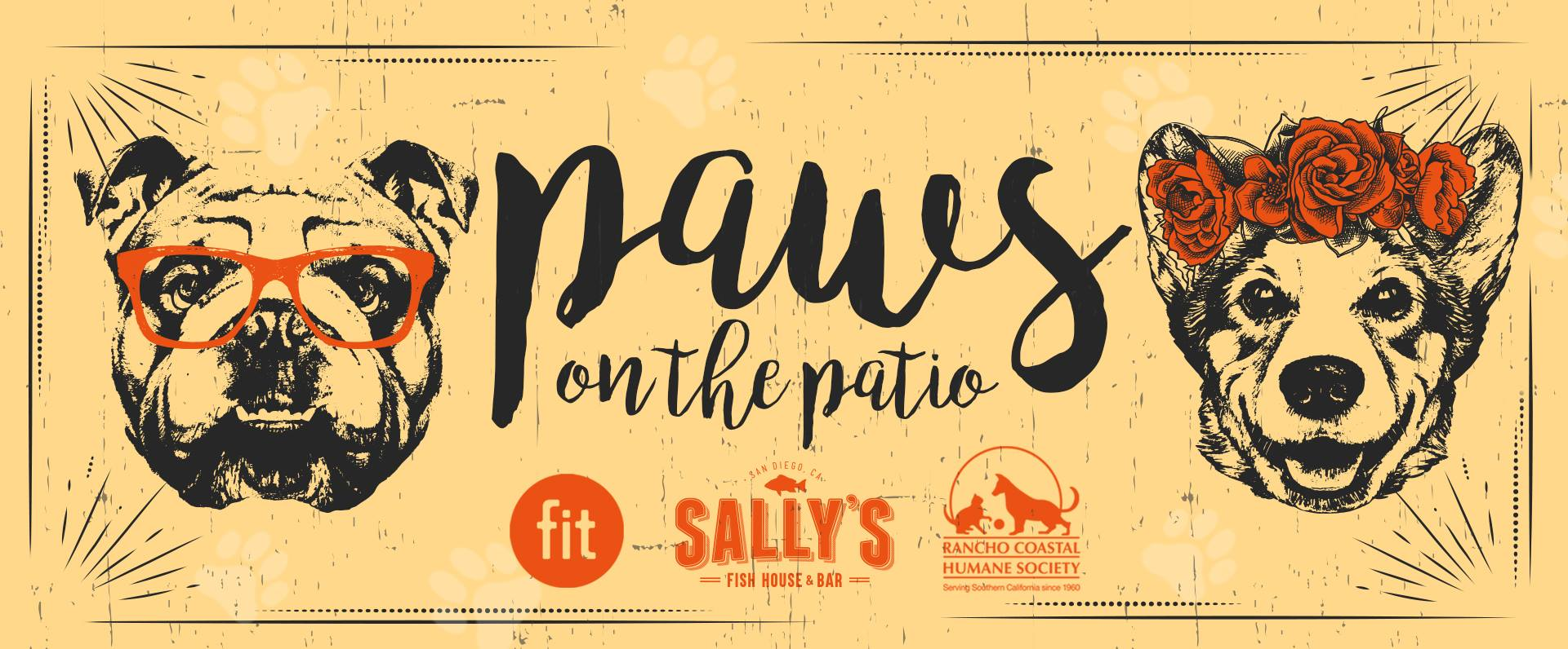 Paws on the patio sunday june 10 2018 2 p m to 5 p m for Sally s fish house bar