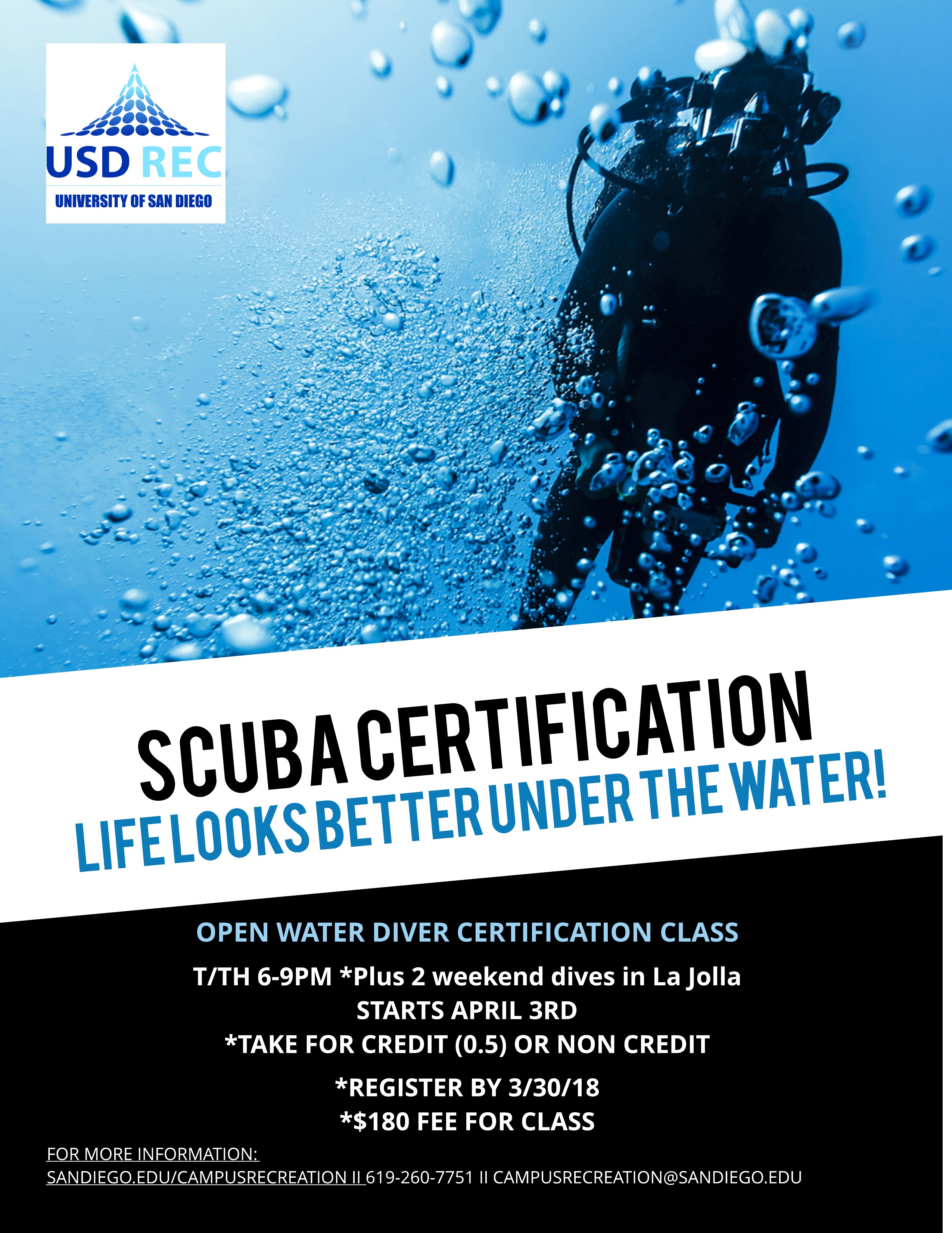 Scuba Certification Course Tuesday April 3 2018 6 Pm To 9