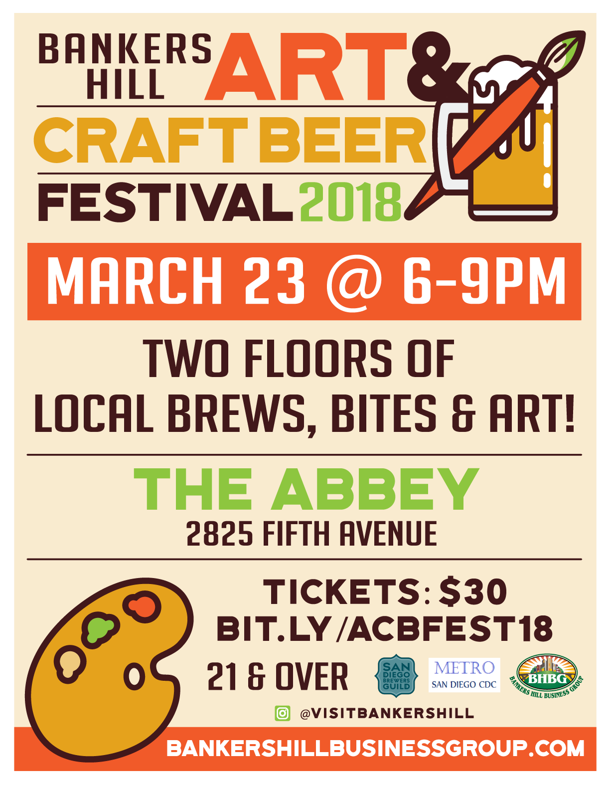 Bankers hill art craft beer festival friday march 23 for Craft beer guild san diego