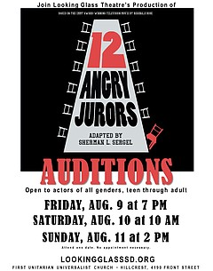 Auditions: 12 Angry Jurors - Friday, August 9, 2019, 7 p m