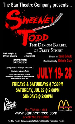 Sweeney Todd, the Demon Barber of Fleet Street - Sunday, July 28