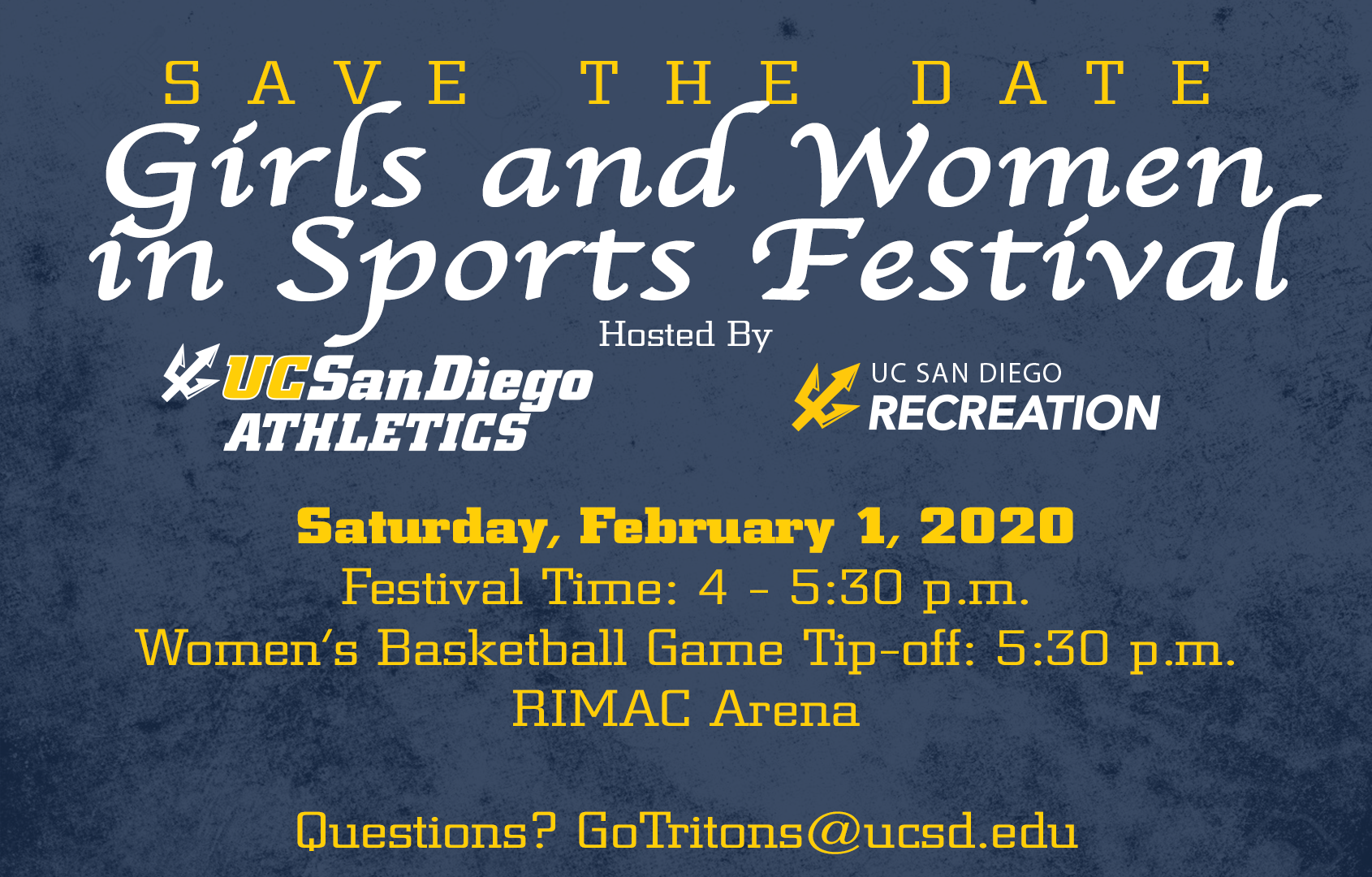 Girls and Women in Sports Festival - Saturday, February.