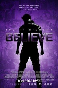 Justin Bieber's Believe movie poster
