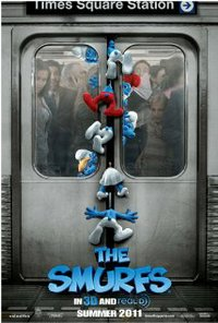 Smurfs movie poster